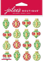 Jolee's Boutique 3D Dimensional Stickers: Colorful Ornaments Repeat