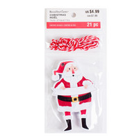 Die Cut Tags: Santa - koristeet
