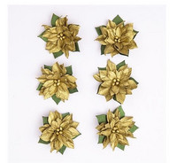 Poinsettia Paper Flowers: Gold