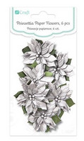 Poinsettia Paper Flowers: Silver