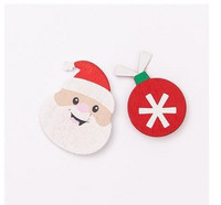 Wooden Stickers: Santas & Baubles