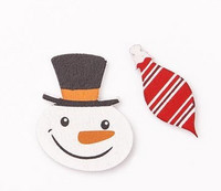 Wooden Stickers: Snowmen & Baubles