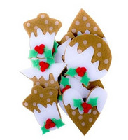 3D Felt Stickers: Gingerbreads with Icing