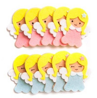 3D Felt Stickers: Angels