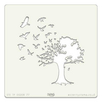 Bird Tree 7x7 -sabluuna
