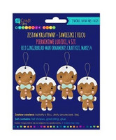 Felt Craft Kit: Gingerbread Men Ornaments - askartelupakkaus