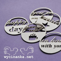 Inscriptions Set: Round Tags - leikekuviopakkaus