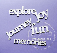 Journey, Fun, Memories, Joy, Explore - leikekuviopakkaus