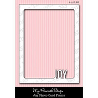 Joy Photo Card Frame  -stanssi