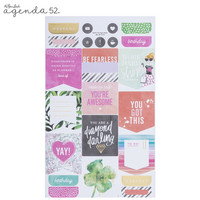 Agenda 52 Foiled Sticker Pack: Watercolor Love -tarrakirja