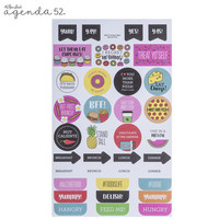 Agenda 52 Foiled Sticker Pack: Food -tarrakirja