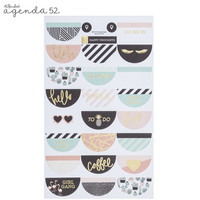 Agenda 52 Foiled Sticker Pack: Mint To Be Fab -tarrakirja