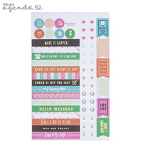Agenda 52 Foiled Sticker Pack: Everyday Phrases Bold -tarrakirja