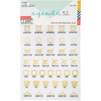 Agenda 52 Foiled Sticker Pack: Home Life -tarrakirja