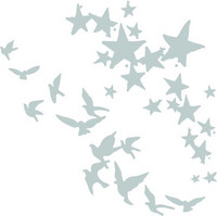 Sizzix Thinlits: Birds and Stars -stanssisetti
