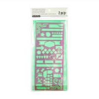 Traveler's Journal Zip Pocket With Stencil