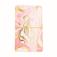 Large Traveler Notebook: Blush Marble