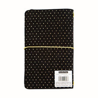 Large Traveler Notebook: Black with Gold Dots
