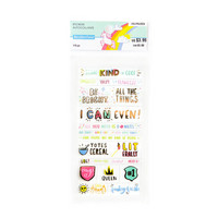 Recollections Planner Stickers:  Lollipalooza Words & Phrases Clear Stickers- tarrapakkaus