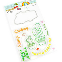 Cheeky Modern Pop stamps & dies: Cactus -setti