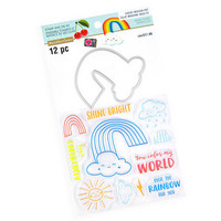 Cheeky Modern Pop stamps & dies: Rainbow -setti