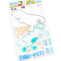 Cheeky Modern Pop stamps & dies: Dino -setti