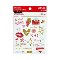 Happy Valentine's Day Clear Stickers -tarrapakkaus
