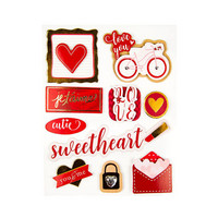 Layered Stickers Valentine: Sweetheart  -tarrat