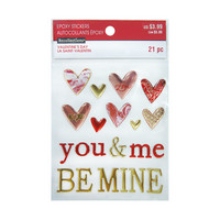 Valentine Epoxy Stickers: Be Mine