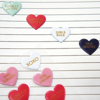 Valentine Puffy Stickers: Conversational Hearts