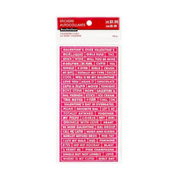 Recollections Planner Stickers:  Valentine Embossed Word Stickers- tarrapakkaus