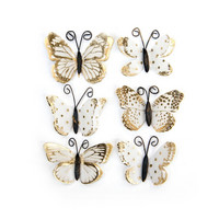 Backyard Table Butterflies: White & Gold