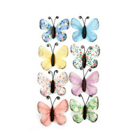 Backyard Table Paper Butterflies: Printed & Pastel