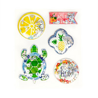 Coastal Village Shaker Stickers: Tropical