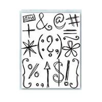 Scribbles Punctuation - kirkas leimasinsetti