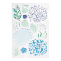 Backyard Table Clear Stamps:  Layered Hydrangea