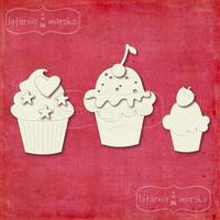 Cupcakes -chipboardpakkaus