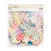 Backyard Table Paper Flowers Value Pack: Printed Pastel Petals