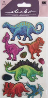 Sticko 3D Metallic Stickers: Dinos