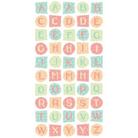 Sticko 3D Metallic Stickers: Hip Chick Alphabet