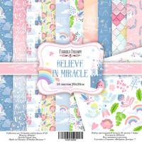 Believe in Miracle 20 x 20 cm - paperikokoelma