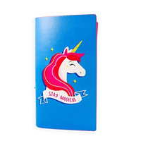 Large Traveler Notebook: Modern Pop Unicorn