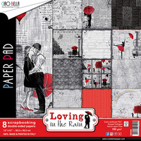 Scrapbooking Paper Pad : Loving in the Rain