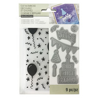 Recollections Dies & Embossing Folder: Birthday -setti