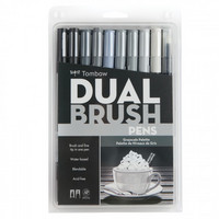 Tombow Dual Brush Pens: Greyscale Palette - tussipakkaus