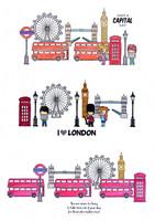 I Love London  - kirkas leimasinsetti