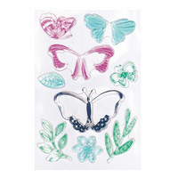 Backyard Table Clear Stamps:  Layered Butterflies