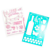 Backyard Table: Brunch stamps & stencil -setti