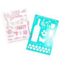 Backyard Table: Brunch stamps & stencil -setti