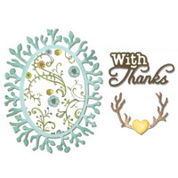 Sizzix Thinlits: Phrase with Thanks & Frame -stanssisetti
